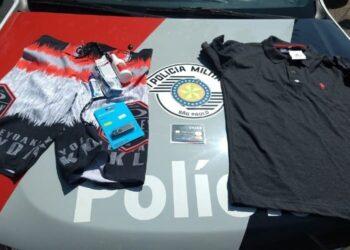 Materiais apreendidos pela policia wm crime de esteluonato em Sorocaba